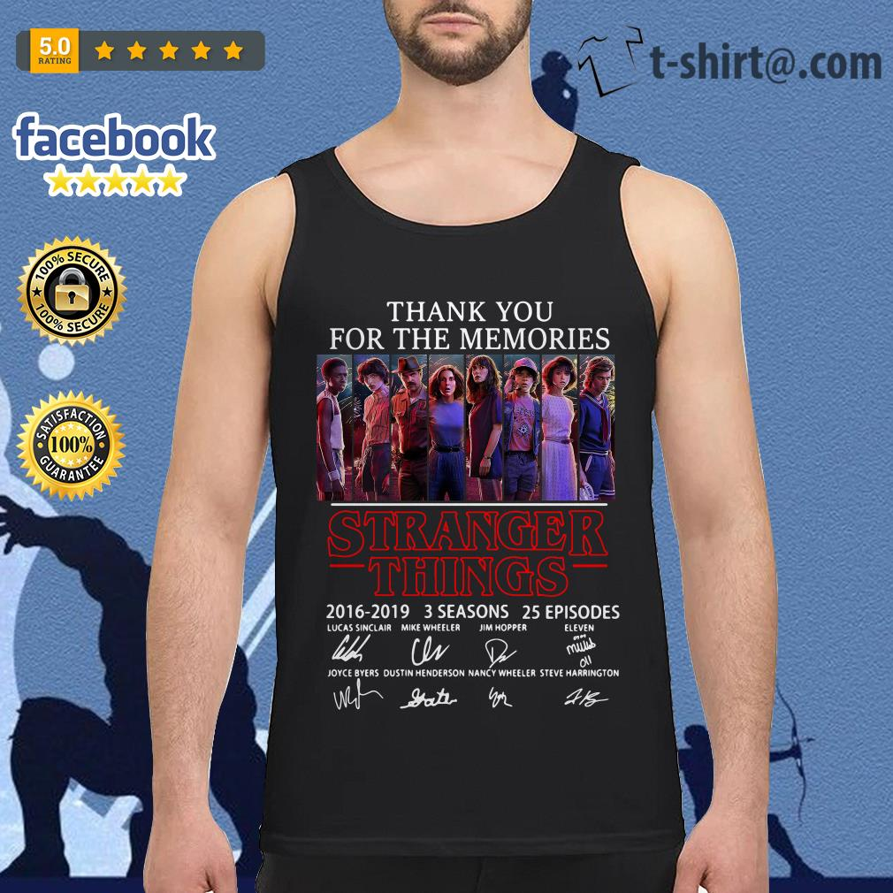 Thank you for the memories Stranger Things 2016-2019 signatures Tank top