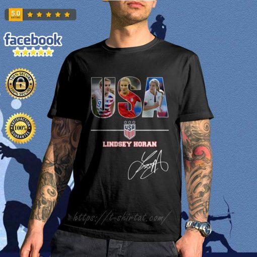 USA women's soccer team Lindsey Horan signature shirt