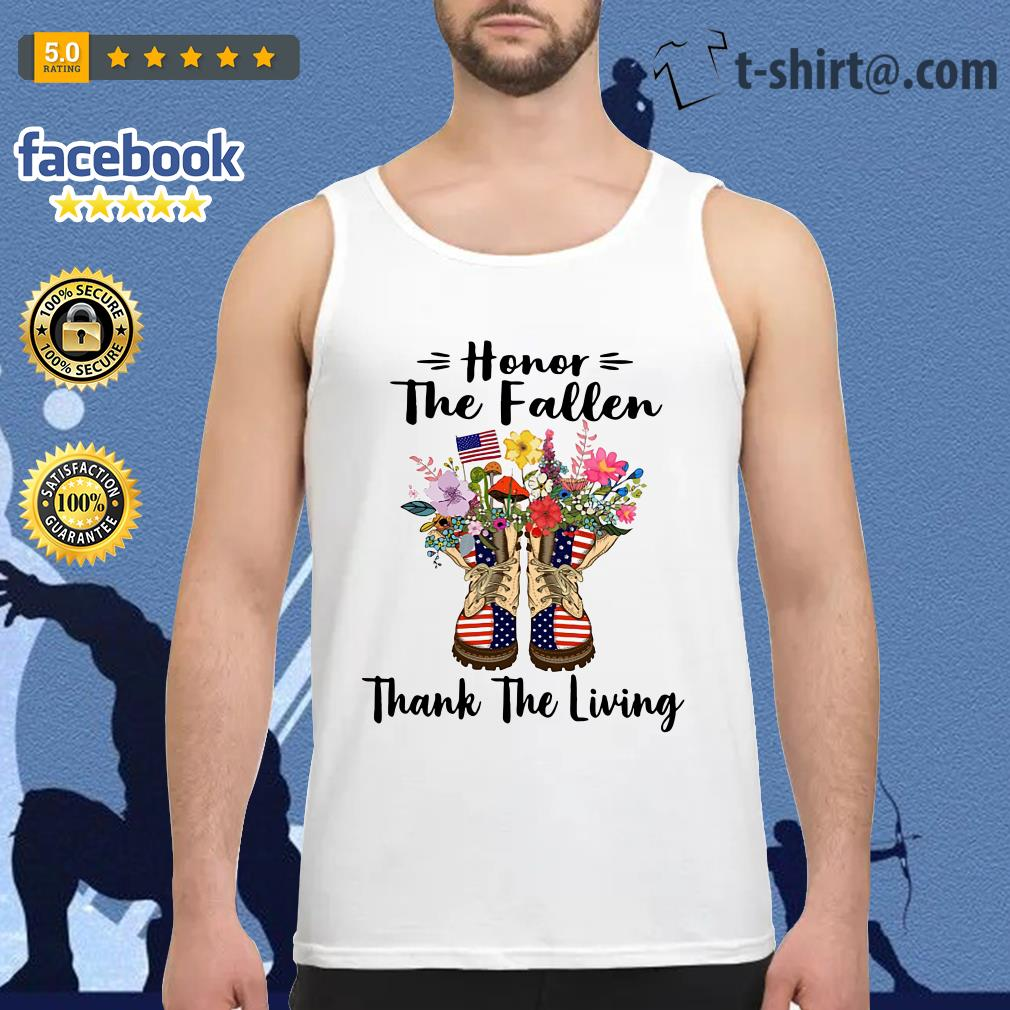 Veteran boots flower honor the fallen thank the living 4th of July independence day Tank top