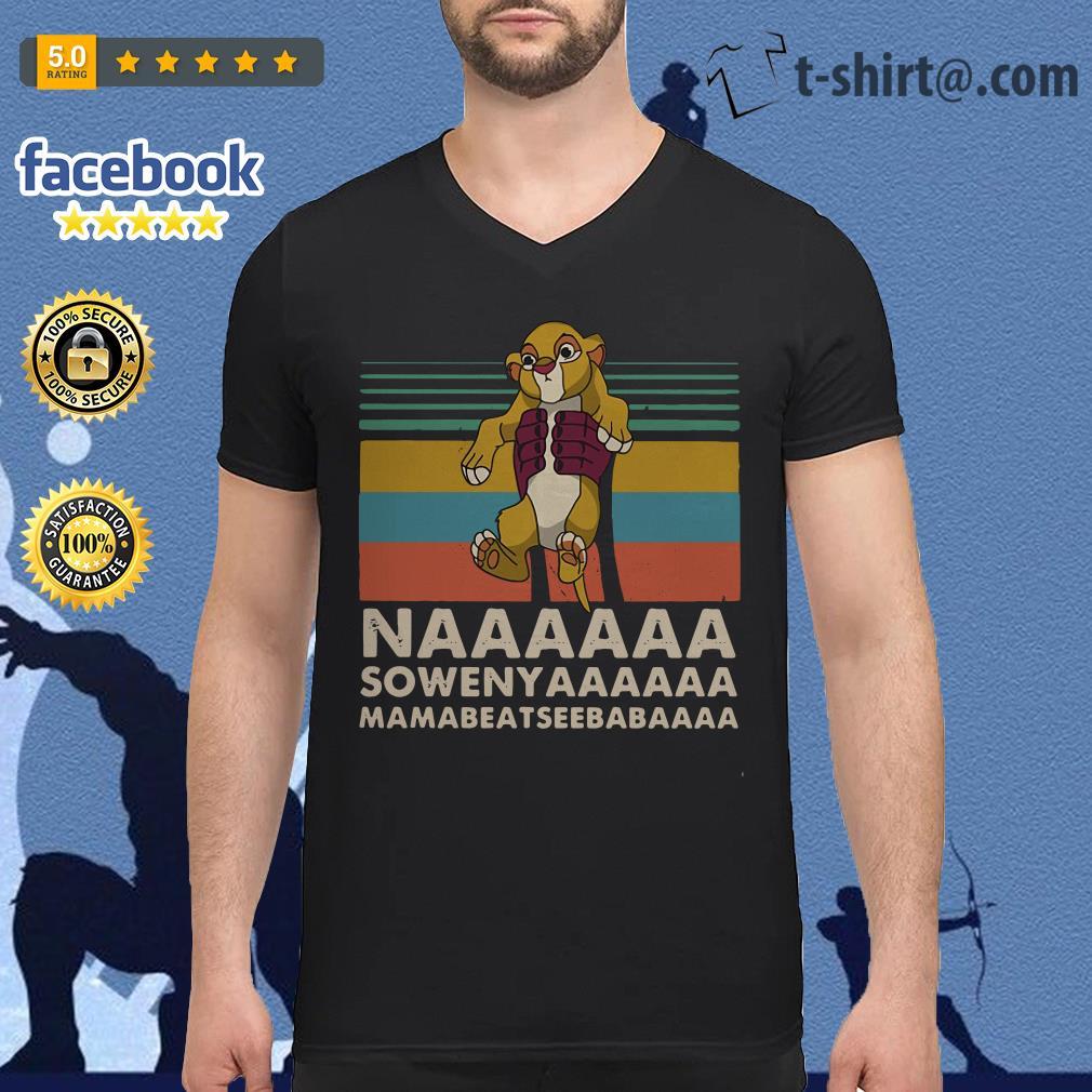Vintage The Lion King Naaaaaa Sowenyaaaaaa V-neck T-shirt