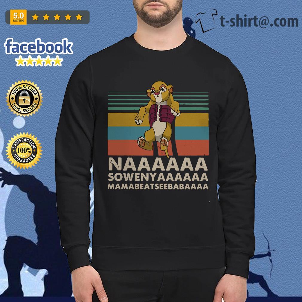 Vintage The Lion King Naaaaaa Sowenyaaaaaa Mamabeatseebabaaaa Sweater