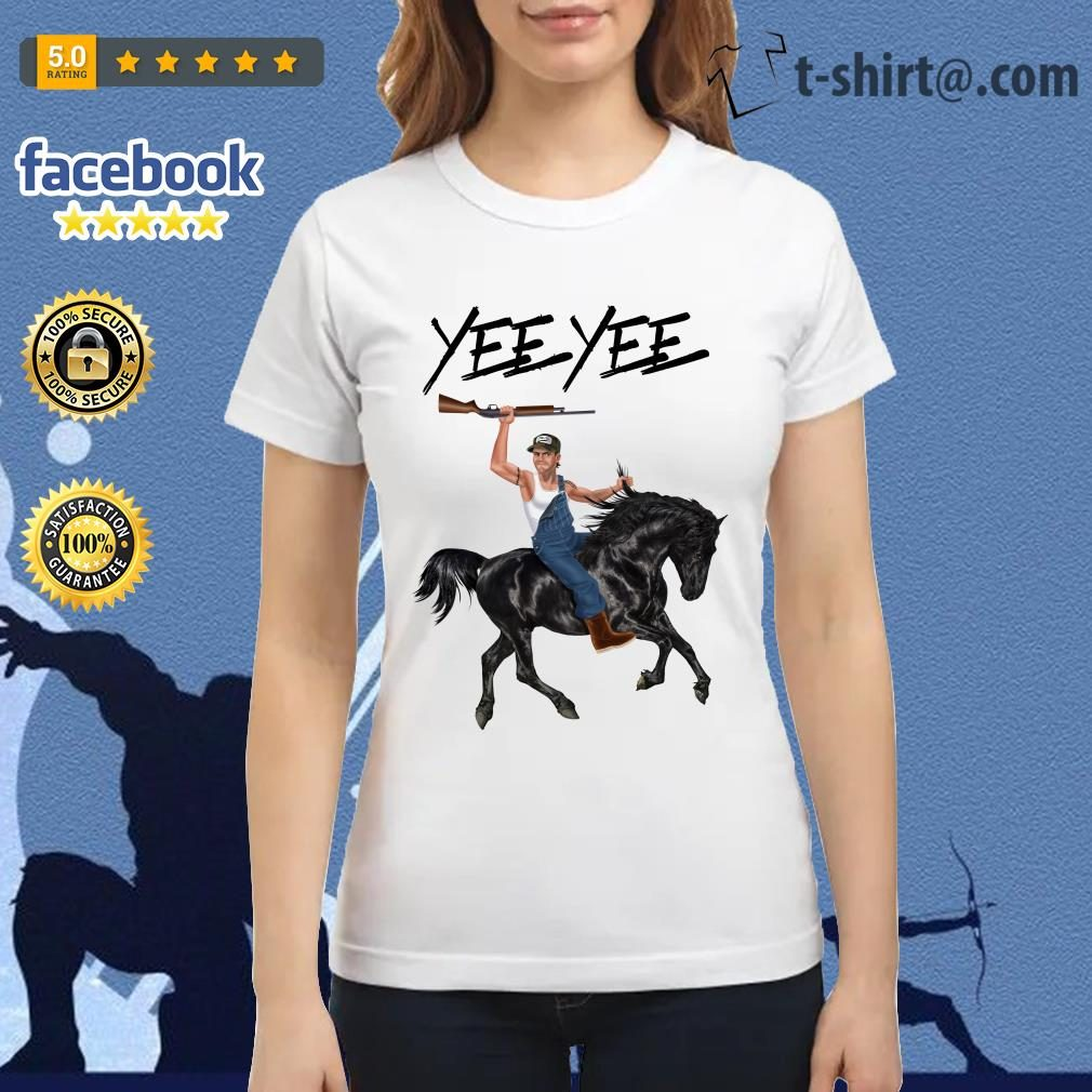 Yee Yee Granger Smith Riding horse with hold gun Ladies Tee