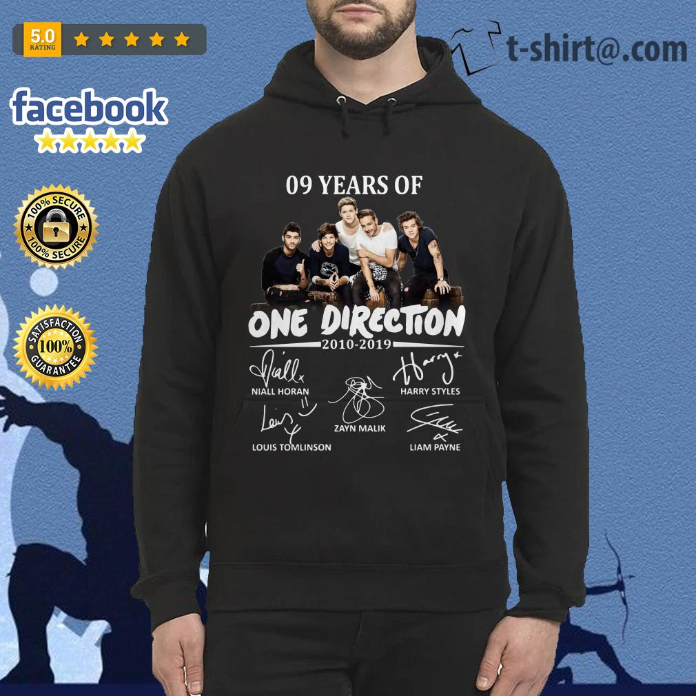 09 Years of One Direction 2010-2019 signatures Hoodie