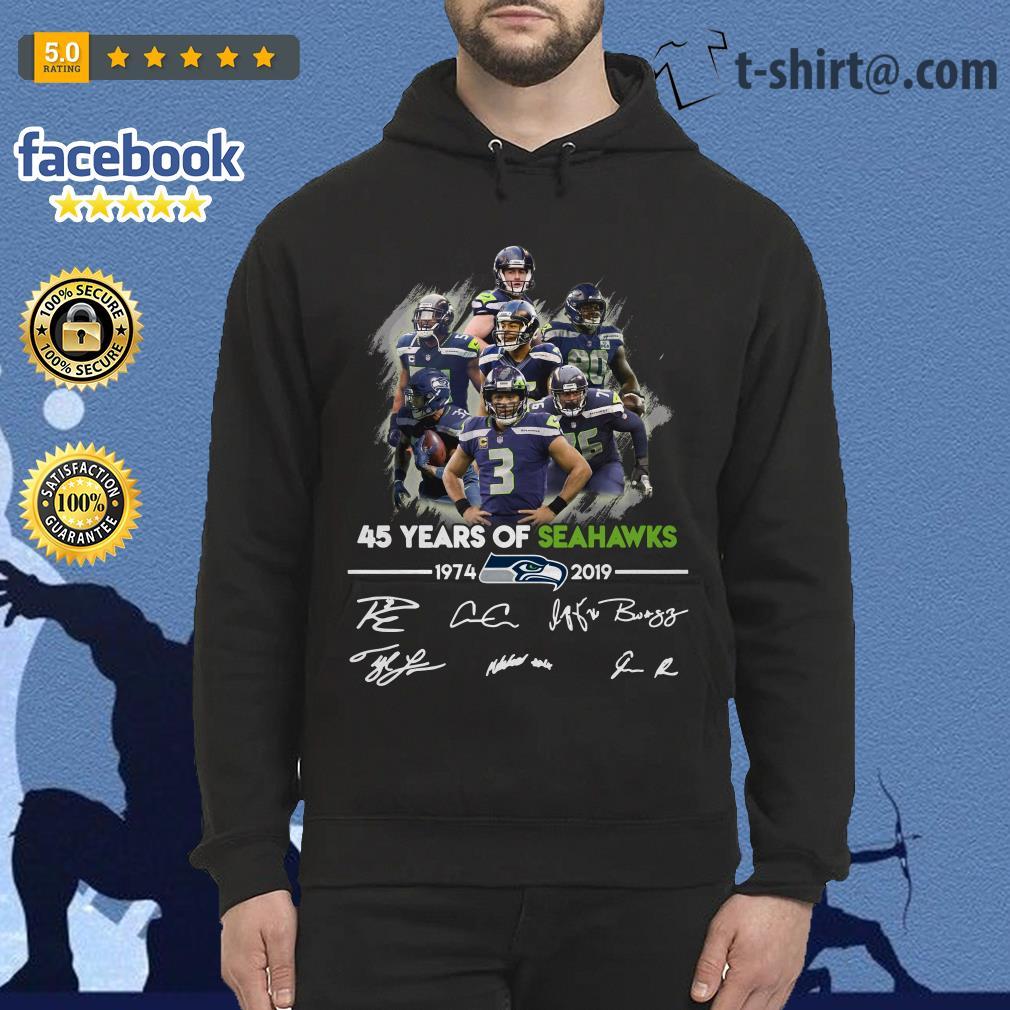 45 years of Seahawks 1974-2019 signature Hoodie