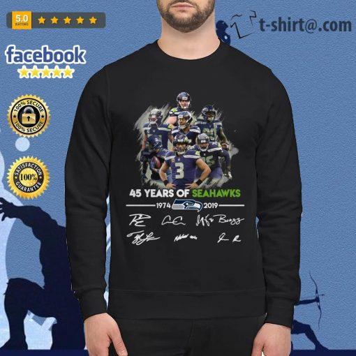 45 years of Seahawks 1974-2019 signature Sweater