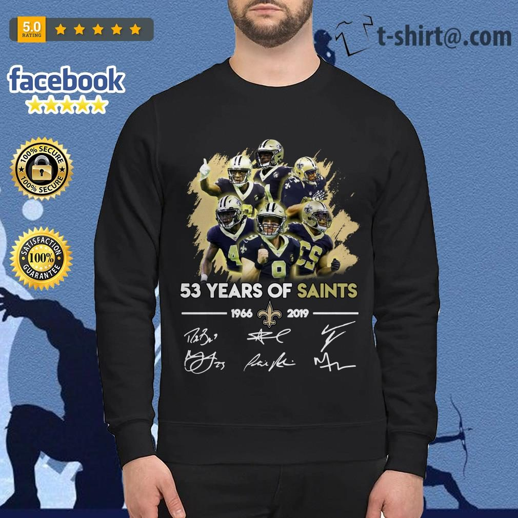 53 years of Saints 1966-2019 signature Sweater