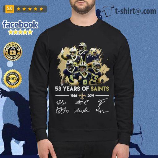 53 years of Saints 1966-2019 signature Sweater