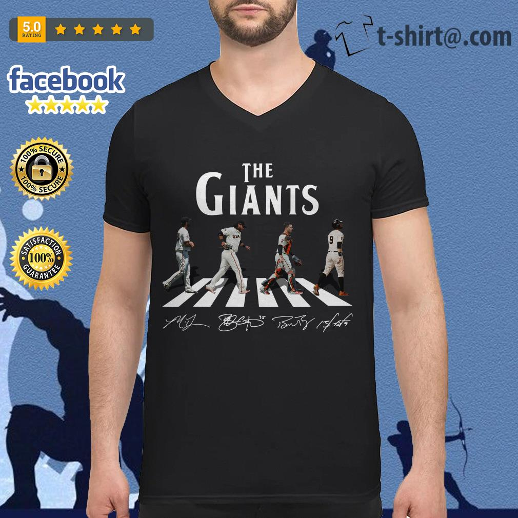Abbey Road The Giants signature V-neck T-shirt