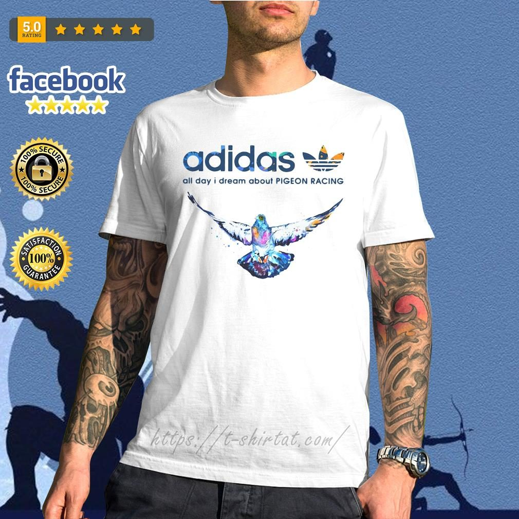 Adidas all day I dream about pigeon racing V-neck T-shirt
