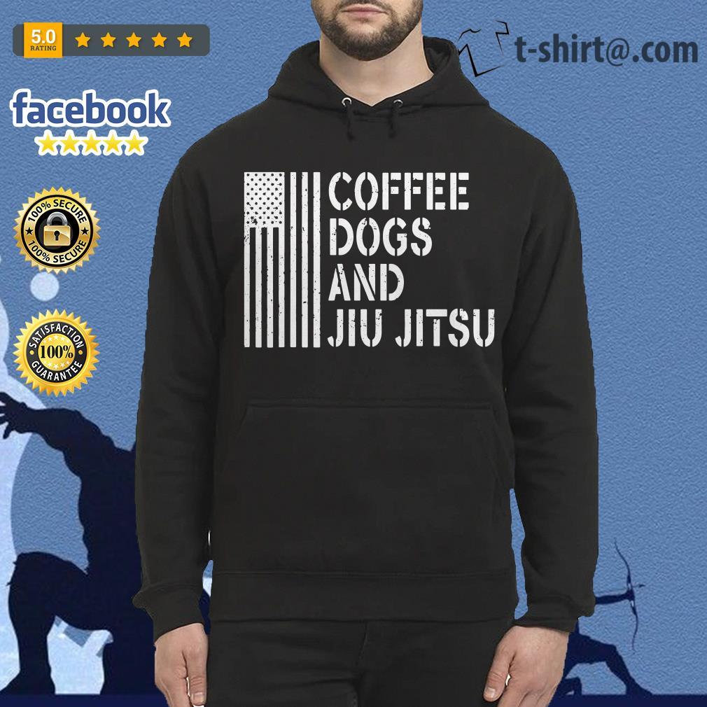 American flag coffee dogs and jiu jitsu Hoodie