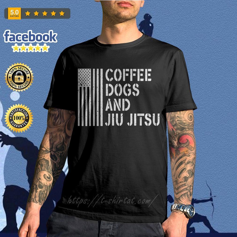 American flag coffee dogs and jiu jitsu shirt