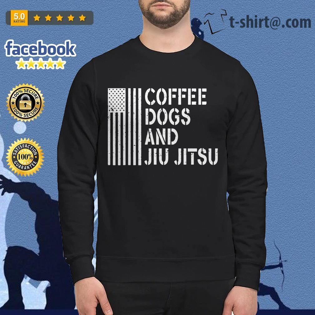 American flag coffee dogs and jiu jitsu Sweater