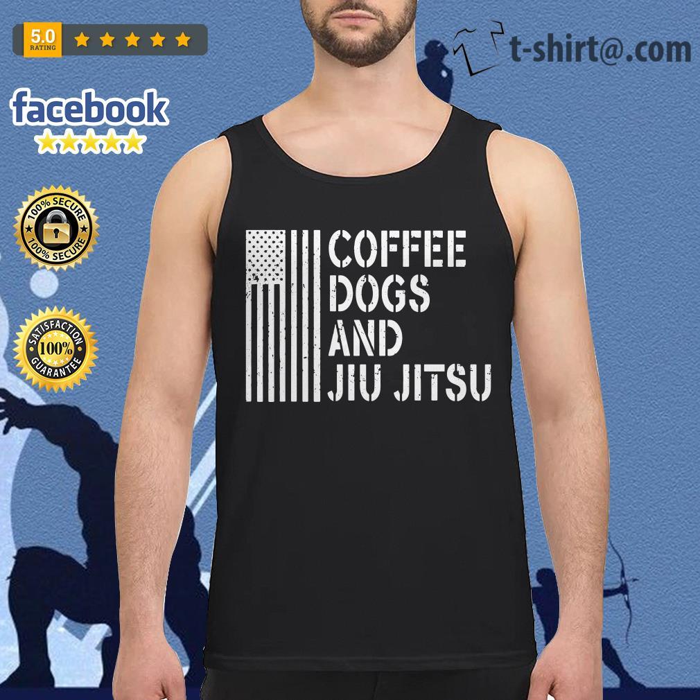 American flag coffee dogs and jiu jitsu Tank top