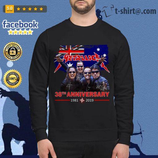 Australia flag Metallica 38th anniversary 1981-2019 signature Sweater