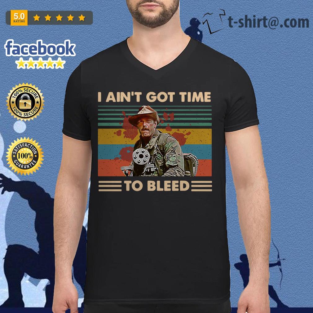 Blain Predator I ain't got time to bleed vintage V-neck T-shirt