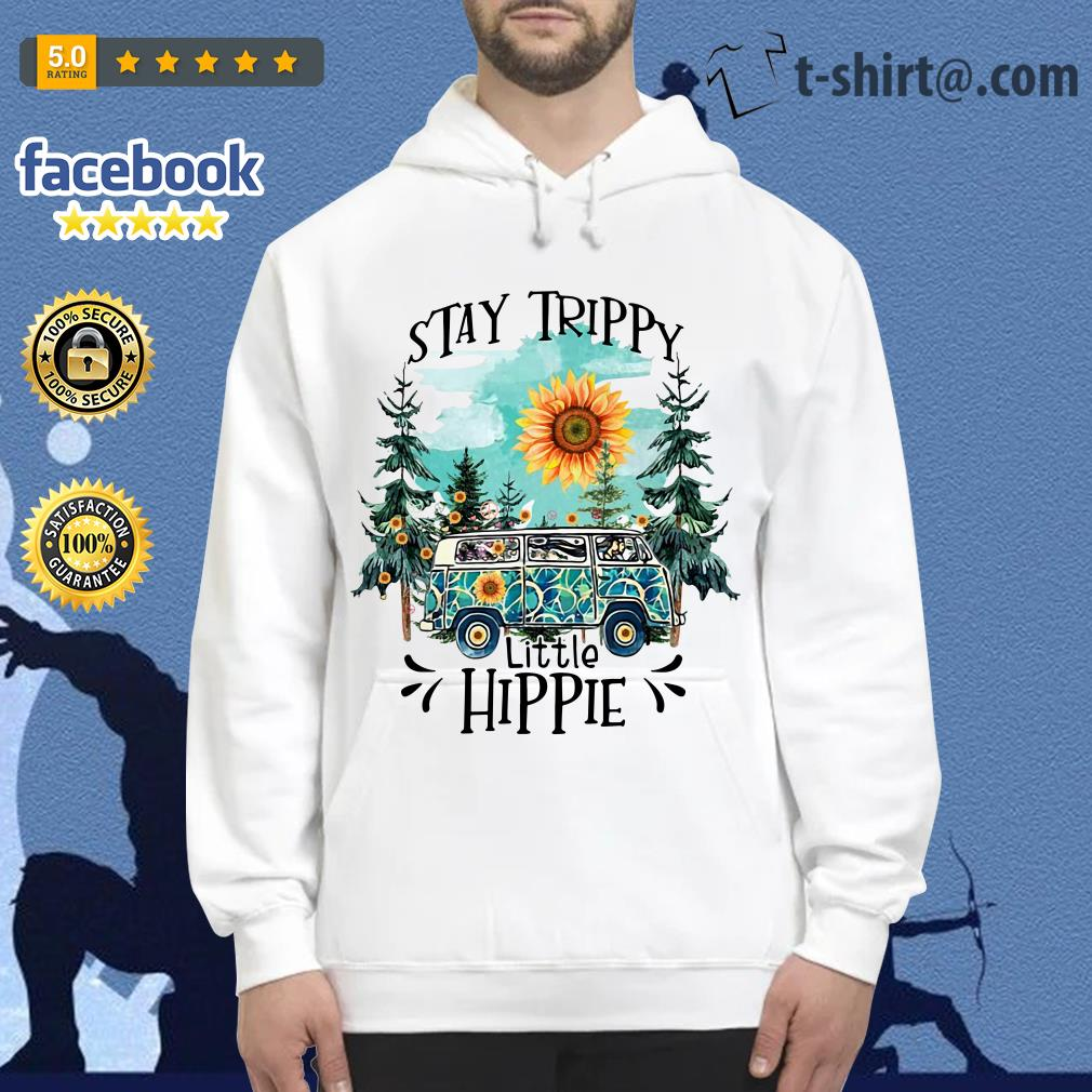 Camping Stay trippy sunflower little hippie Hoodie