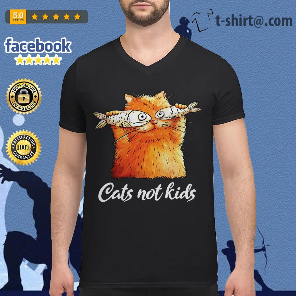 Cats not kids V-neck T-shirt