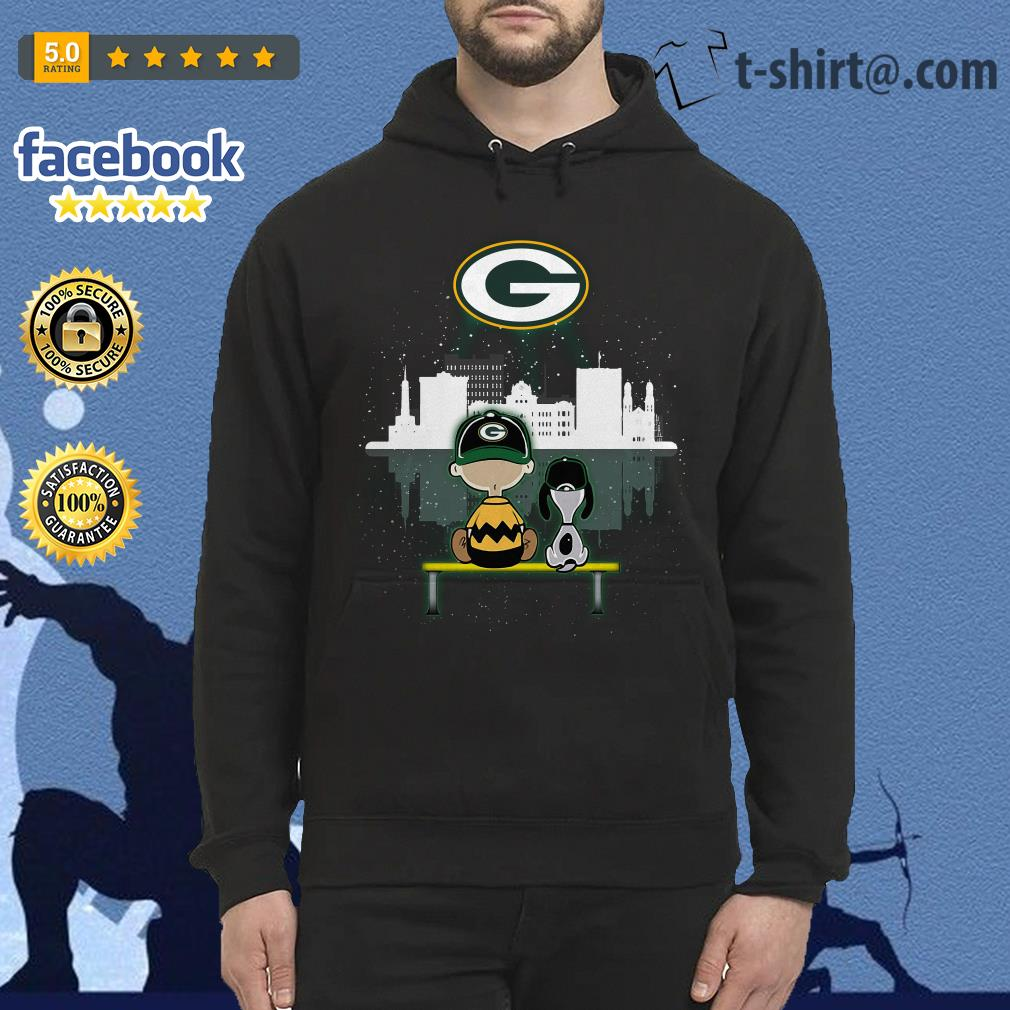 Charlie Brown and Snoopy dog watching Green Bay Packers Hoodie