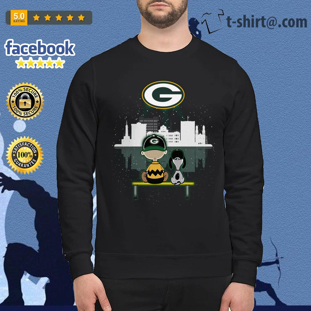 new style 4d915 e7095 Charlie Brown and Snoopy dog watching Green Bay Packers shirt