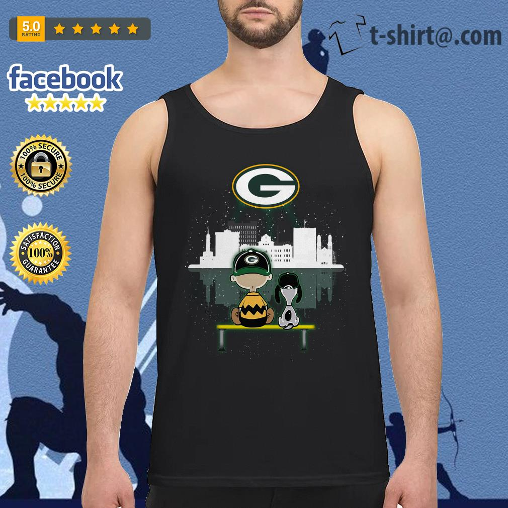Charlie Brown and Snoopy dog watching Green Bay Packers Tank top
