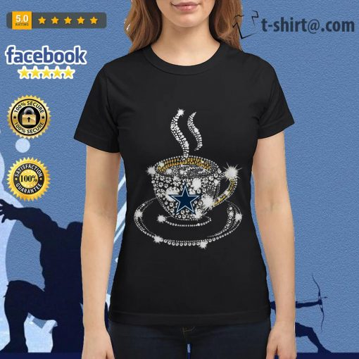 Coffee Dallas Cowboys rhinestone Ladies Tee
