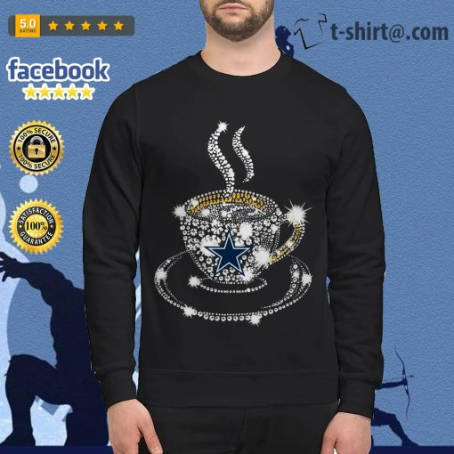 Coffee Dallas Cowboys rhinestone Sweater