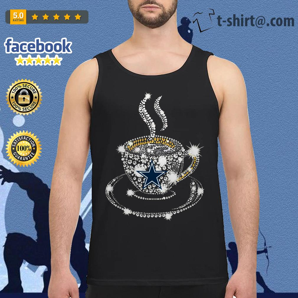 Coffee Dallas Cowboys rhinestone Tank top