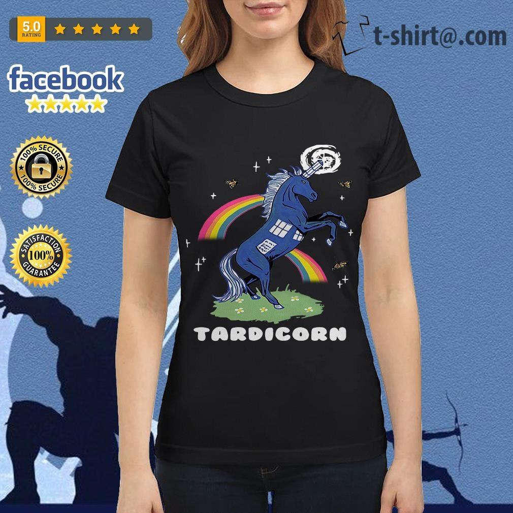 Doctor Who Tardis Cardboard tardicorn Ladies Tee