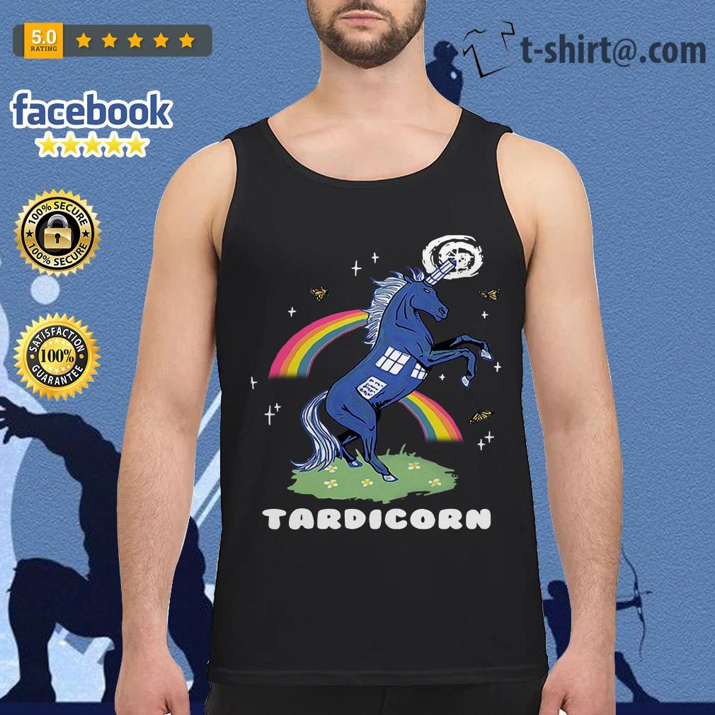 Doctor Who Tardis Cardboard tardicorn Tank top