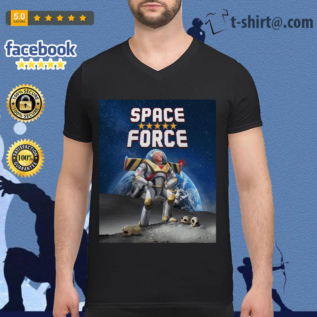 Donald Trump Buzz Lightyear space force V-neck T-shirt