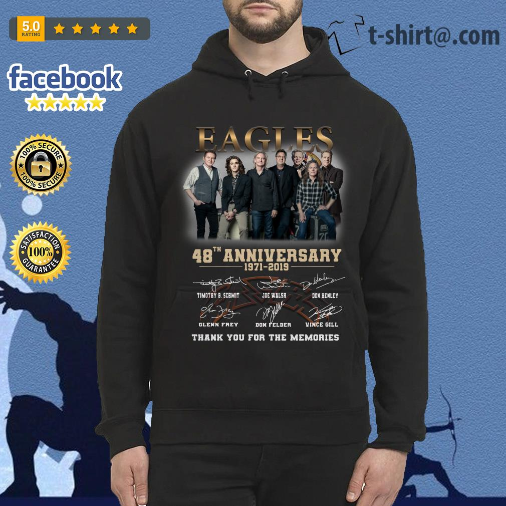 Eagles 48th anniversary 1971-2019 thank you for the memories Hoodie