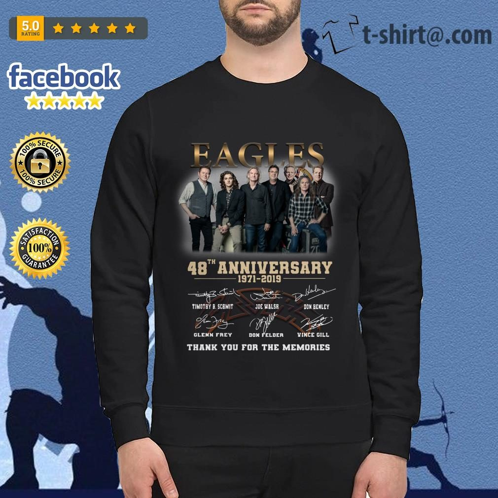 Eagles 48th anniversary 1971-2019 thank you for the memories Sweater