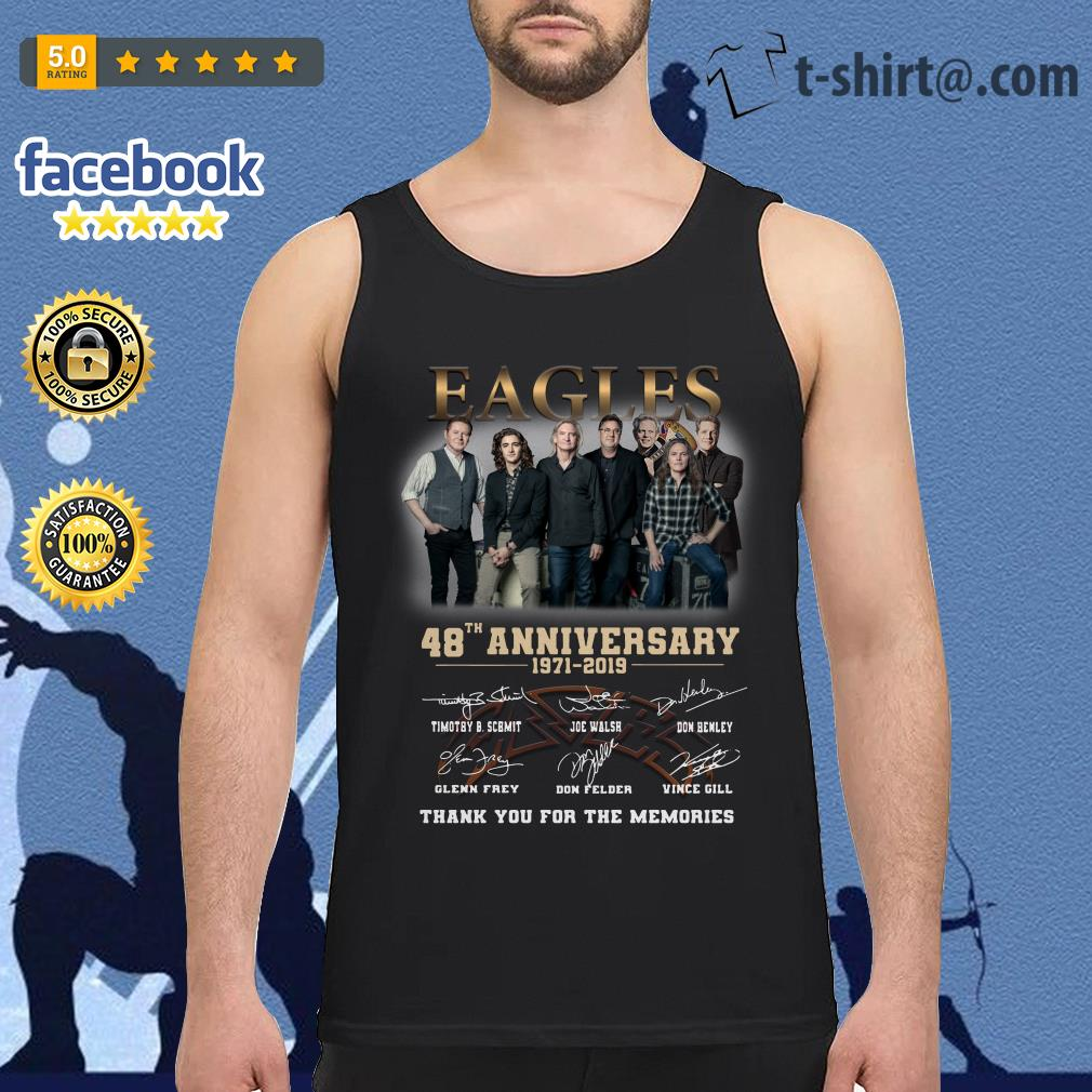 Eagles 48th anniversary 1971-2019 thank you for the memories Tank top