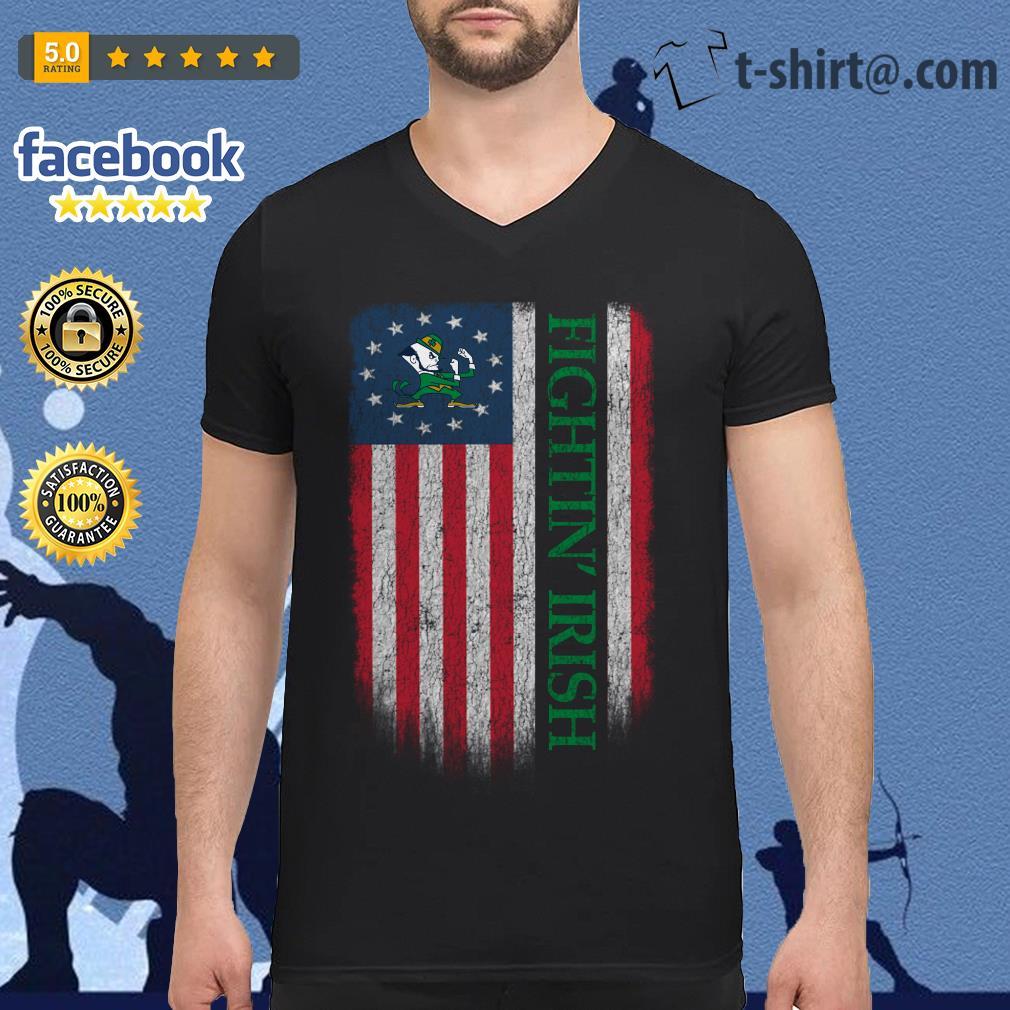 Fightin' Irish Betsy Ross flag V-neck T-shirt