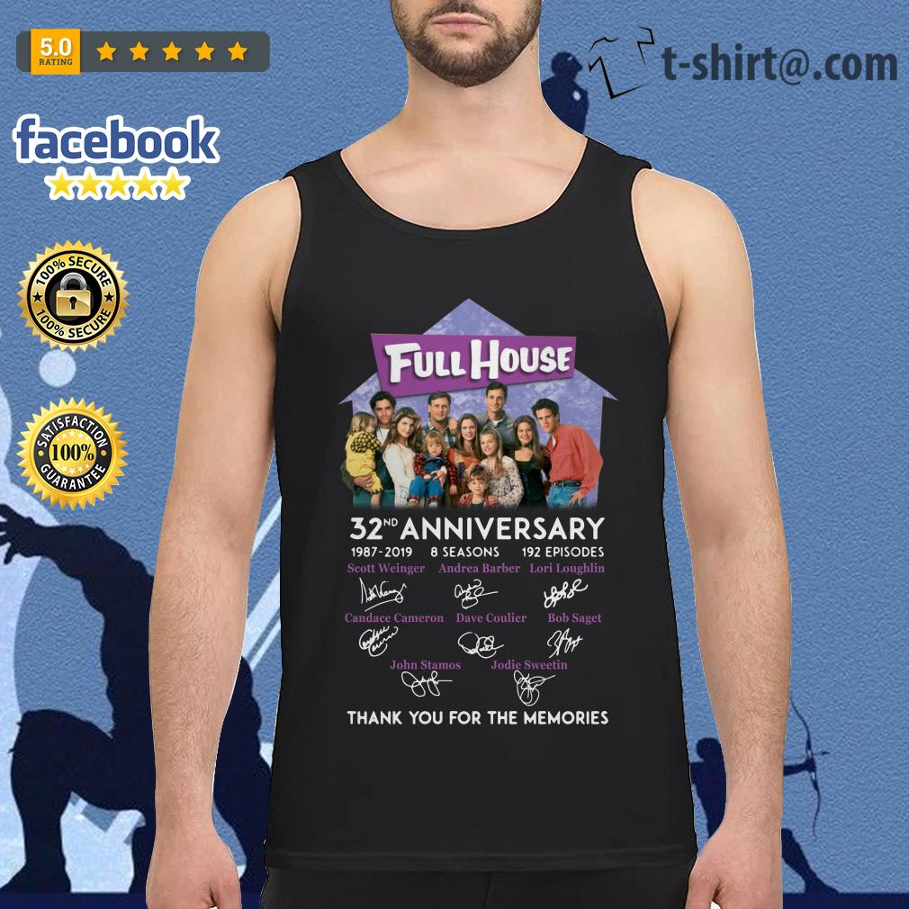 Full House 32th anniversary thank you for the memories Tank top
