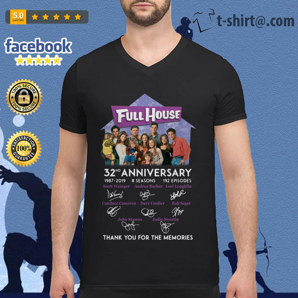 Full House 32th anniversary thank you for the memories V-neck T-shirt