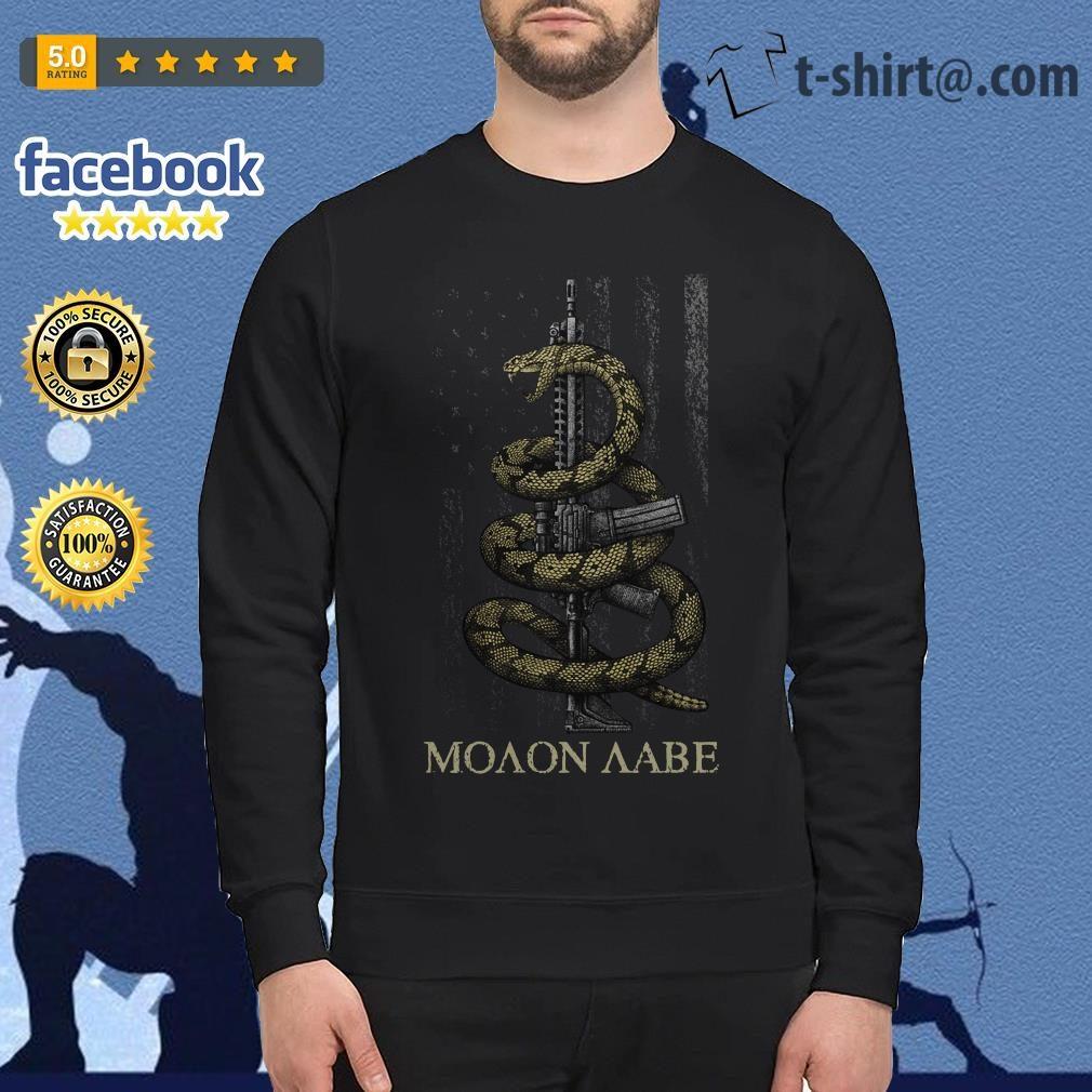 Gadsden Snake Moaon Aabe American flag Sweater
