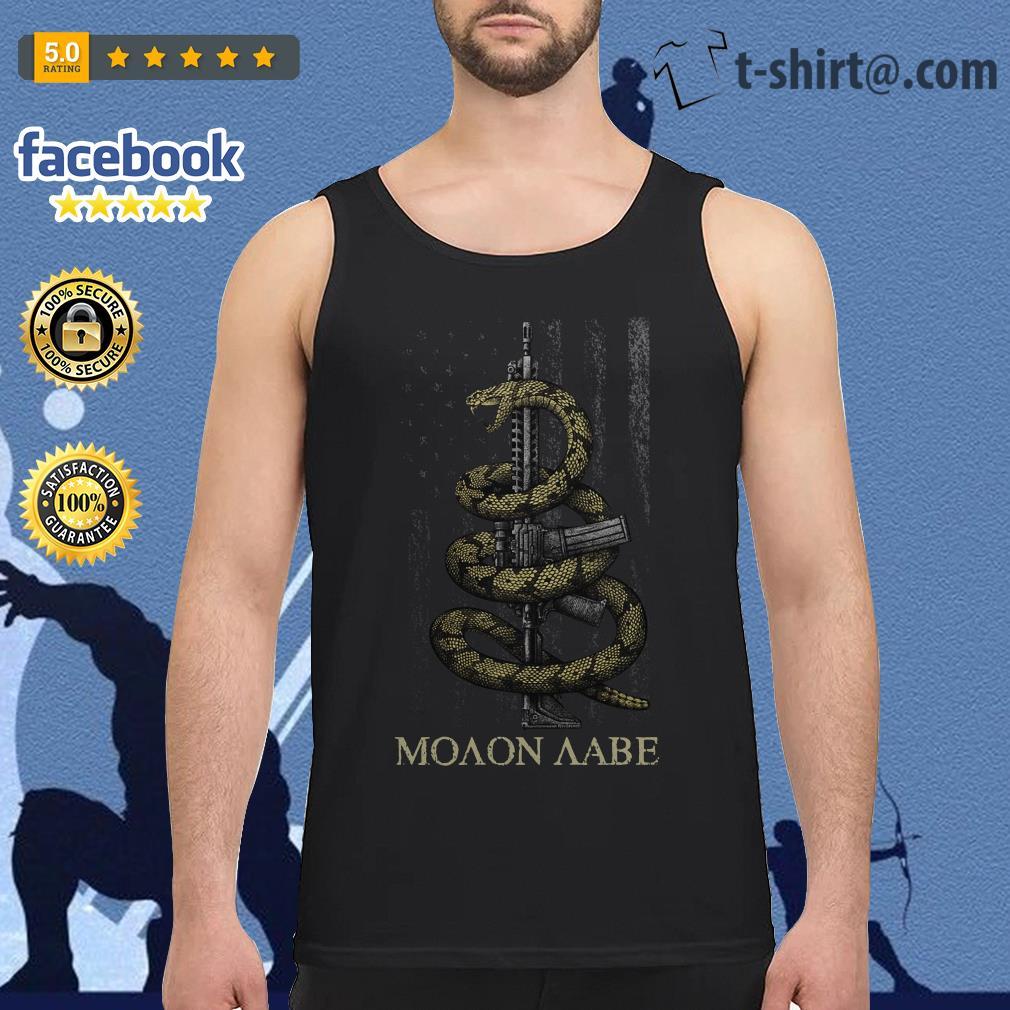 Gadsden Snake Moaon Aabe American flag Tank top