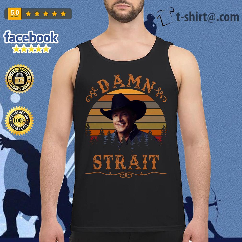 George Strait damn Strait vintage Tank top