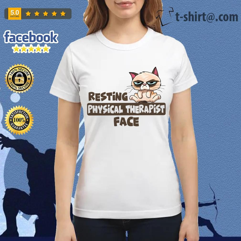 Grumpy Cat resting physical therapist face Ladies Tee