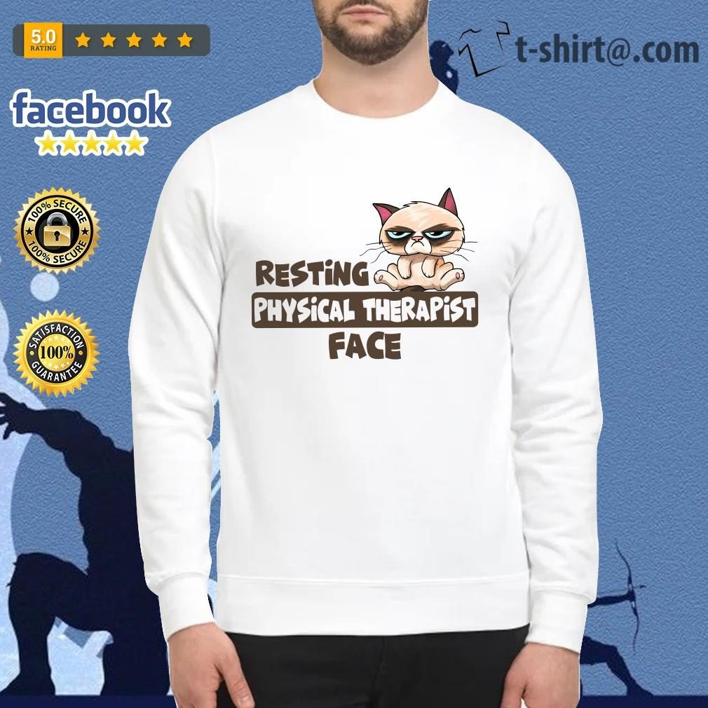 Grumpy Cat resting physical therapist face Sweater