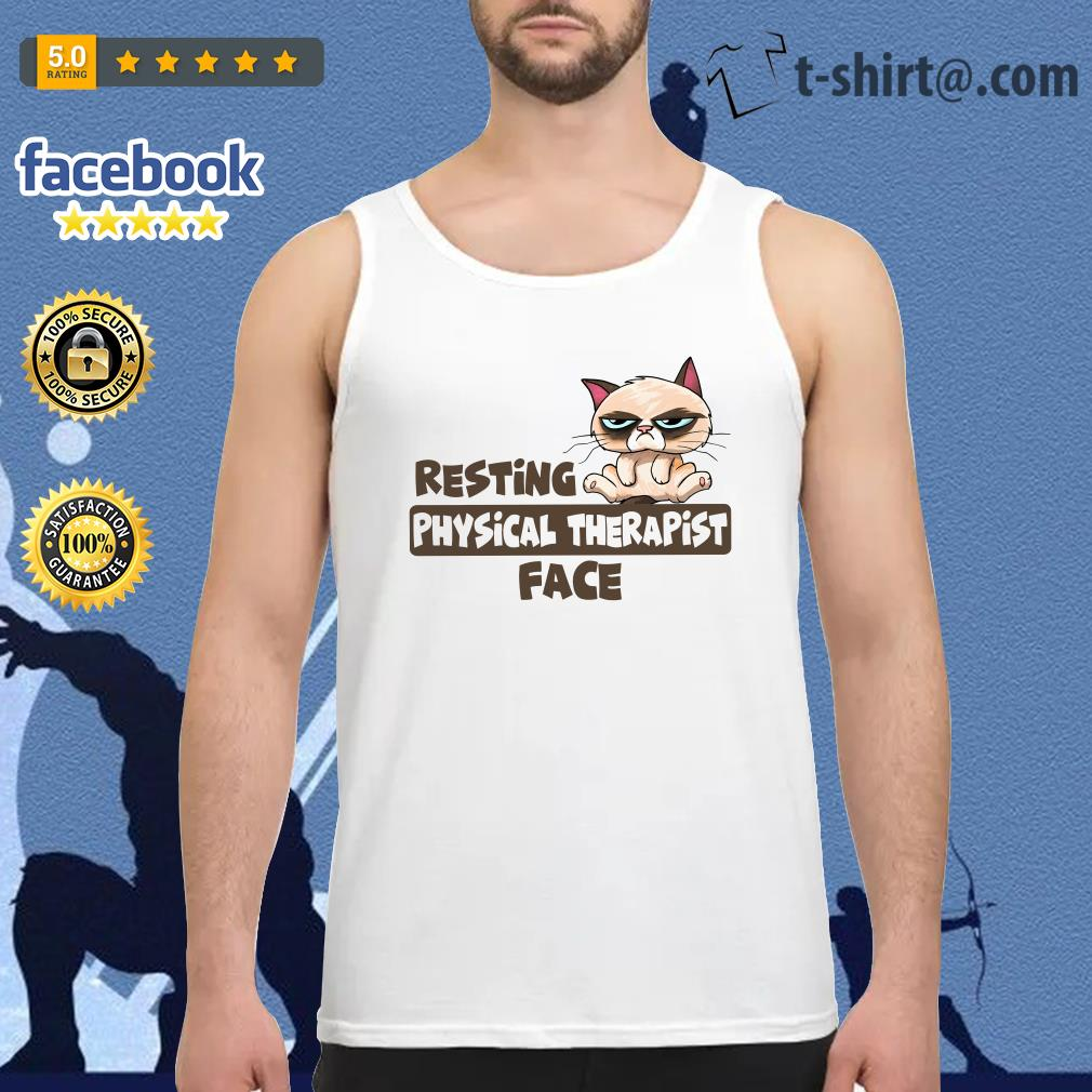 Grumpy Cat resting physical therapist face Tank top