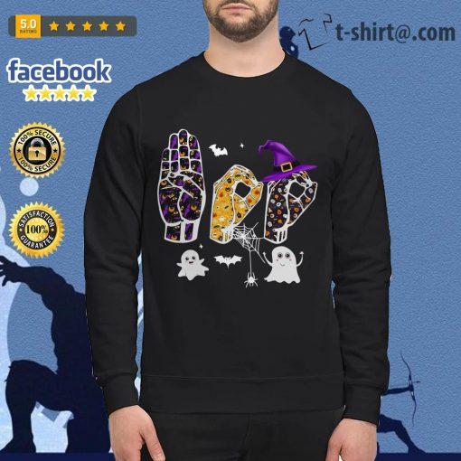 Halloween Asl Boo Sweater