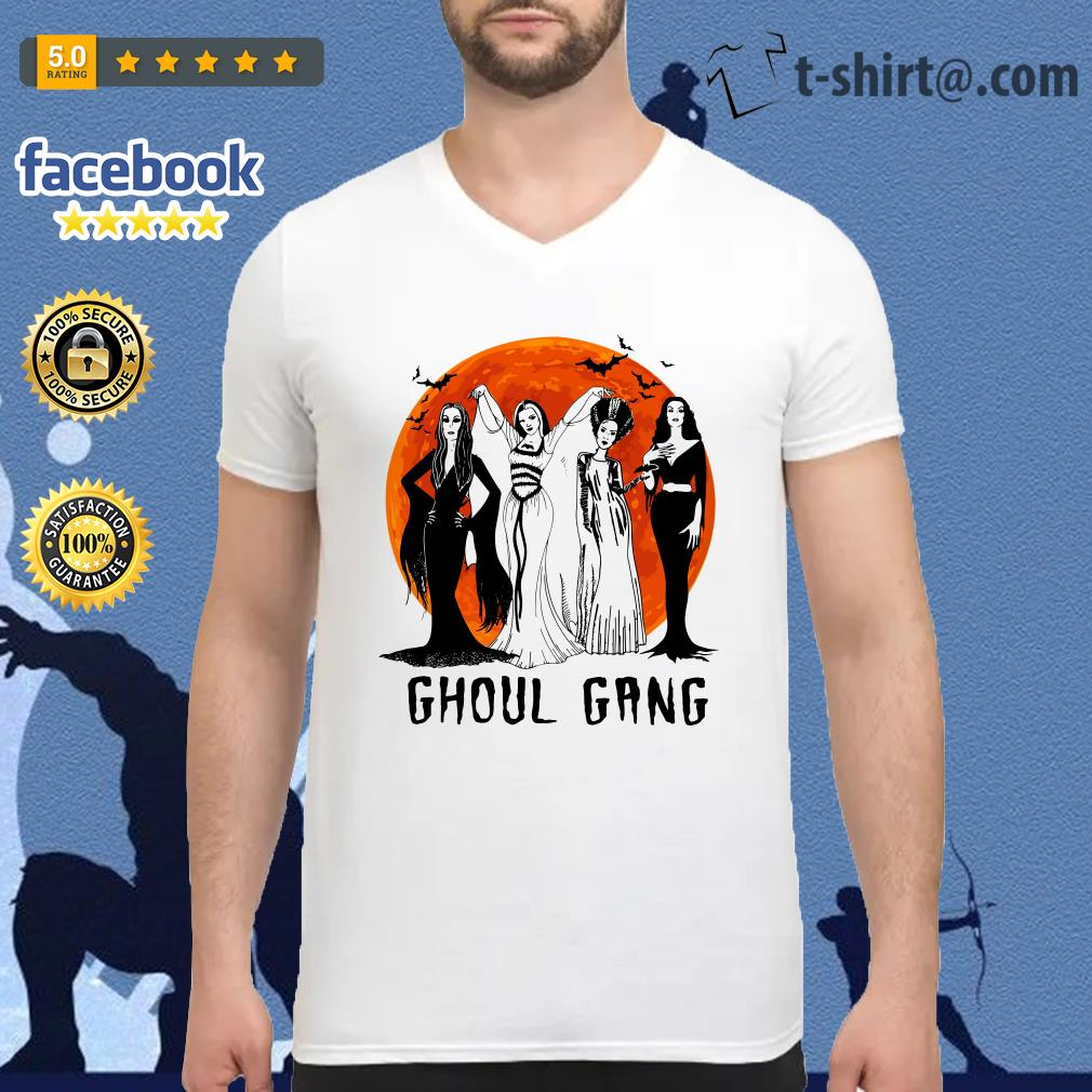 Halloween Ghoul Gang V-neck T-shirt