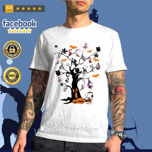 Halloween Snoopy pumpkin tree shirt