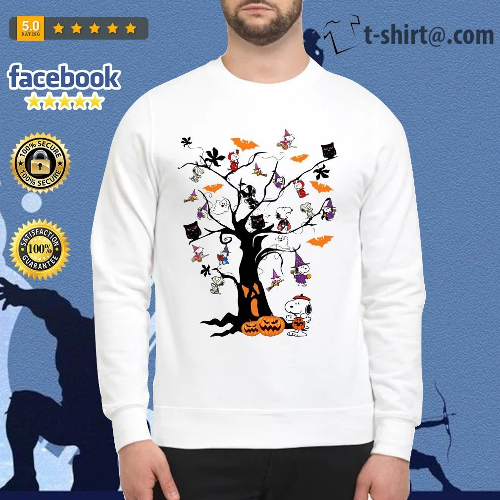 Halloween Snoopy pumpkin tree Sweater