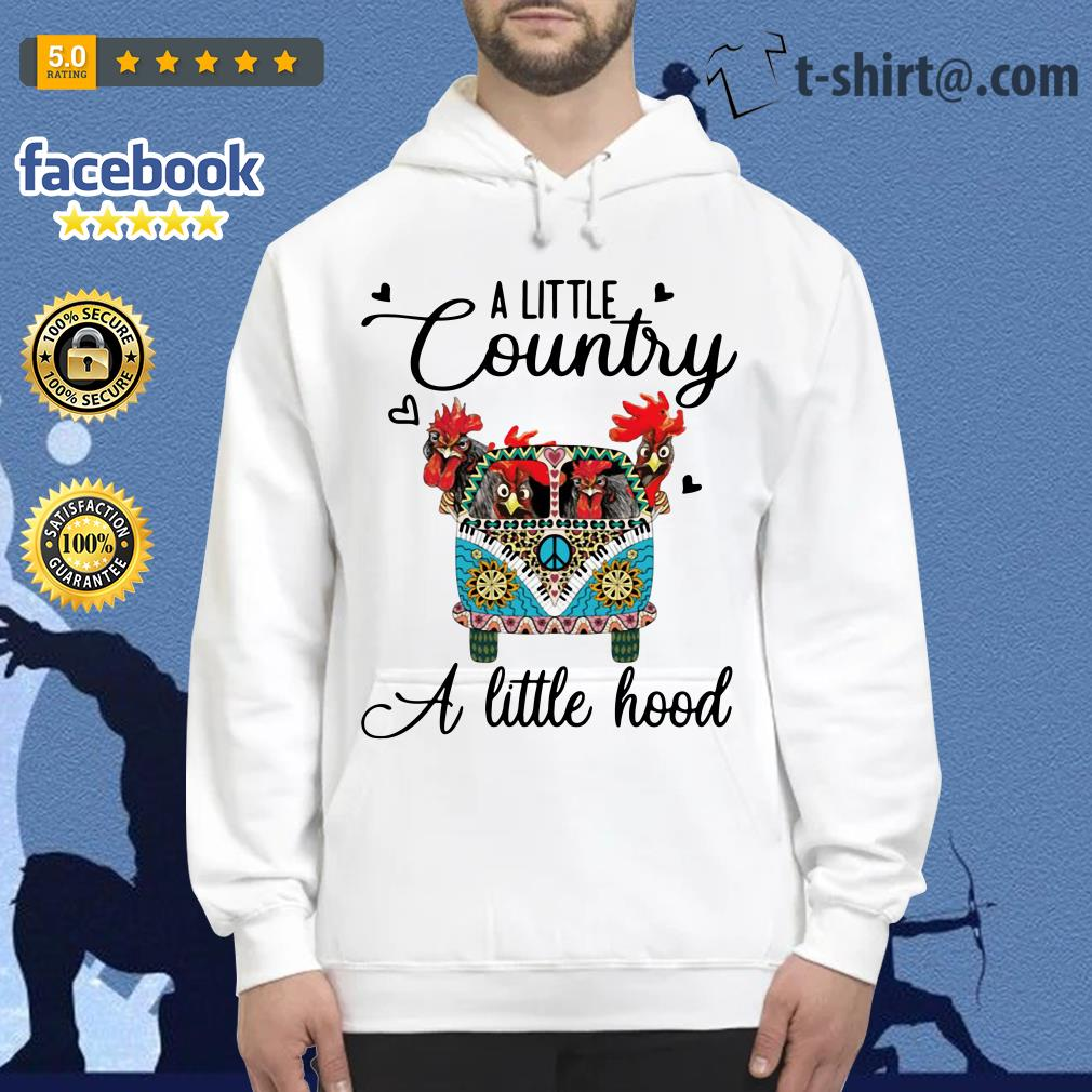 Hippie Car chickens a little country a little hood Hoodie