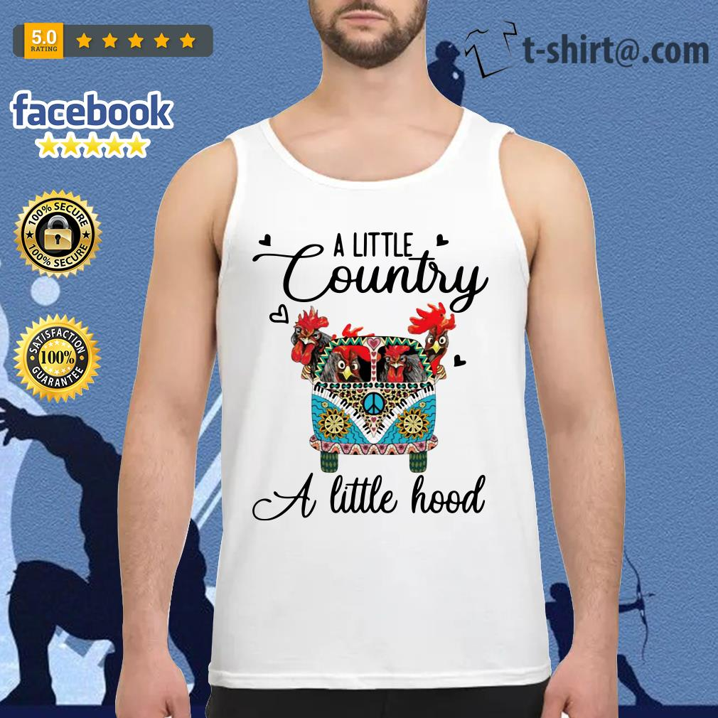 Hippie Car chickens a little country a little hood Tank top
