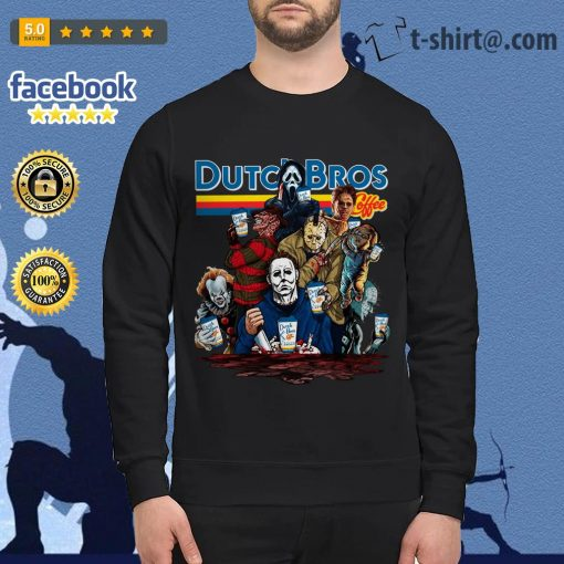 Horror characters Dutch Bros coffee Sweater