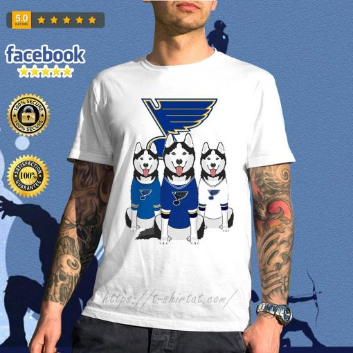 Husky dog St. Louis Blues shirt